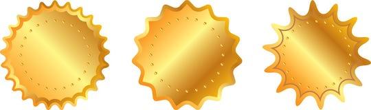 Guld- etikett Arkivfoto