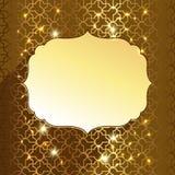 Guld- etikett Royaltyfri Fotografi