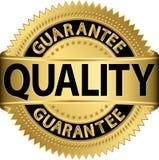 Guld- etikett för kvalitets- garanti Arkivfoton