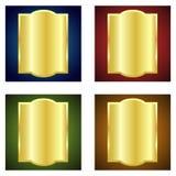 guld- etiketter stock illustrationer