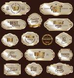guld- etiketter för samling Fotografering för Bildbyråer