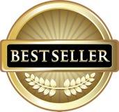 Guld- etikettsymbol för bästa säljare Royaltyfri Fotografi