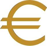 guld- euro Royaltyfri Foto