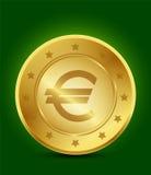 Guld- Eurosymbol Arkivbild