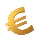 Guld- eurotecken Arkivbilder