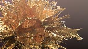 Guld- explosionfärgstänk Royaltyfri Fotografi