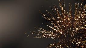Guld- explosionfärgstänk Royaltyfria Foton
