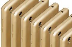 Guld- färg för telefon Royaltyfria Foton