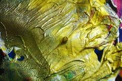 Guld- färger för pastellfärgad guld- grön vattenfärg för målarfärg violett, abstrakt bakgrund Arkivbilder