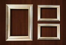 Guld- färgram Royaltyfri Fotografi