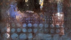 Guld- färgstänk på den bruna målade bakgrunden arkivbild