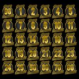 Guld för årsdagemblemsamling vektor illustrationer