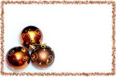 guld för 3 boll Arkivbilder