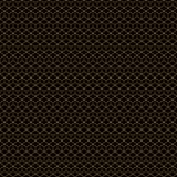 Guld för Art Deco Cubes Seamless Geometric vektormodell på svart arkivfoto