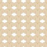 Guld för Art Deco Woven Circles Seamless vektormodell vektor illustrationer