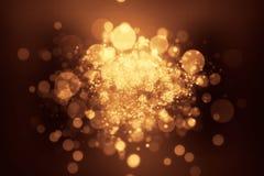 Guld för Bokeh grungebakgrund Royaltyfri Foto