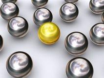 guld för boll 3d royaltyfri illustrationer
