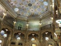 Guld för dekor för tak för da Bolsa för Palà ¡ cio härlig royaltyfria foton