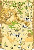 Guld för drake för tygmodell kinesisk royaltyfri illustrationer