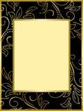 guld för eps för svart kort för bakgrund blom- royaltyfri illustrationer