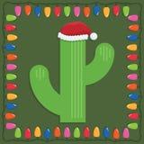 guld för folie för jul för bowfilialkaktusen hänger bandet Arkivfoto