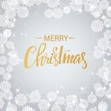 Guld för glad jul som blänker bokstäverdesign för illustrationsköld för 10 eps vektor vektor illustrationer