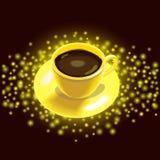 guld för kaffekopp Arkivfoto