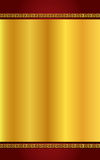 Guld för kinesisk stil och mörker - röd bakgrund Royaltyfri Fotografi