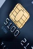 guld för kortchipkreditering Royaltyfri Fotografi