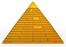 Guld- pyramid Royaltyfri Fotografi