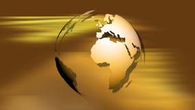 Guld för rotation för jordjordklotvärld arkivfilmer