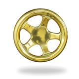 Guld för styrninghjul Arkivbilder
