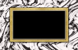Guld för svart för marmorbakgrundsinbjudan vit Arkivfoton