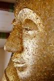 Guld- förgylld Buddhaframsida Royaltyfri Foto