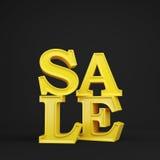 Guld- försäljning Arkivbild