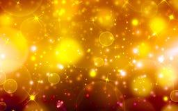Guld- festlig bakgrund Royaltyfri Foto