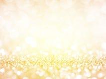 Guld- festlig julbakgrund arkivbild