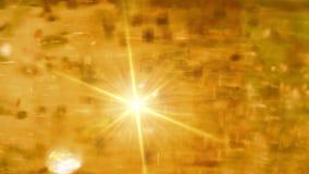 Guld- festliga ljus stock video