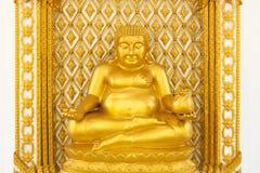 Guld- fet buddha staty royaltyfri fotografi