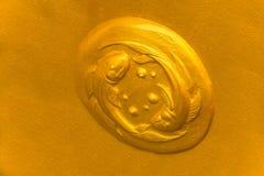 Guld- Fiskarnasymbol Royaltyfri Bild