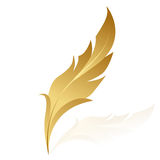 guld- fjäder Royaltyfria Bilder