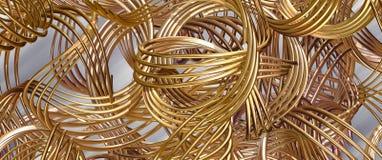 guld- fjädrar stock illustrationer