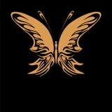 Guld- fjäril Royaltyfria Foton