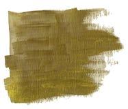 Guld- fläckgouache royaltyfri foto