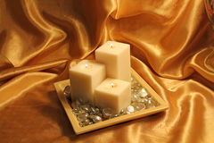 Guld- flytande Royaltyfri Fotografi