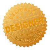 Guld- FORMGIVARE Award Stamp royaltyfri illustrationer