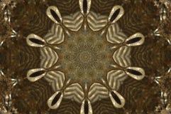 Guld- formmodell som kommer från en fractaldesign royaltyfri illustrationer
