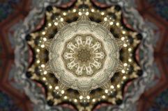 Guld- formmodell som kommer från en fractaldesign stock illustrationer