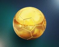 guld- fotboll royaltyfri illustrationer