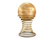 guld- fotboll för boll Royaltyfri Bild